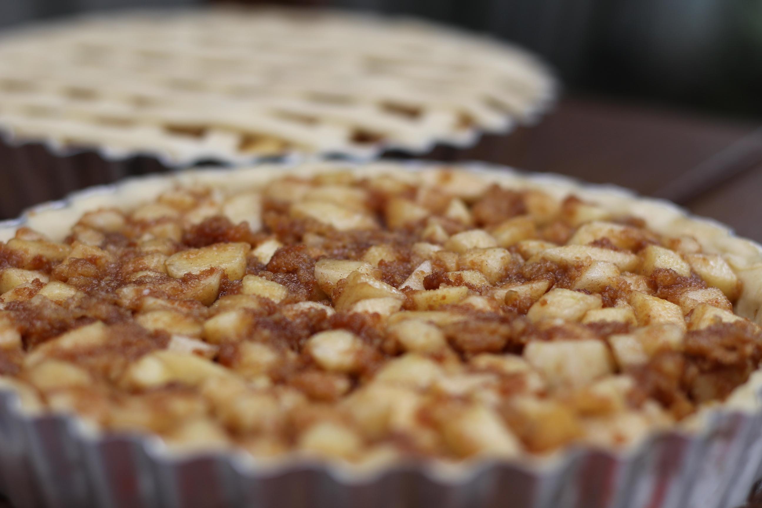 Torta Tiras Banana e Canela ou Maca e Canela