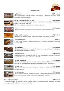 Tabela Sobremesas 2019